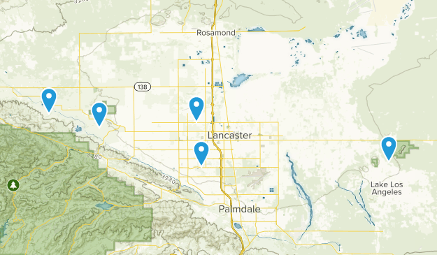 Lancaster, California Hiking Map