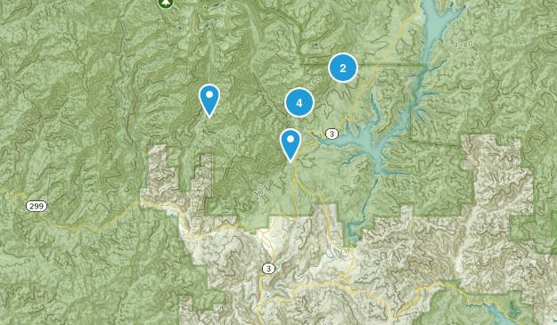 Lewiston, California Backpacking Map