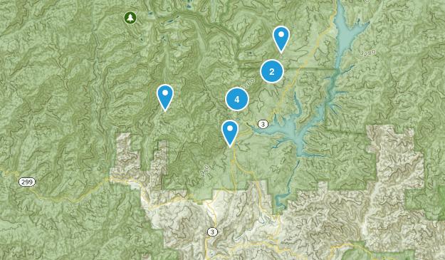 Lewiston, California Hiking Map