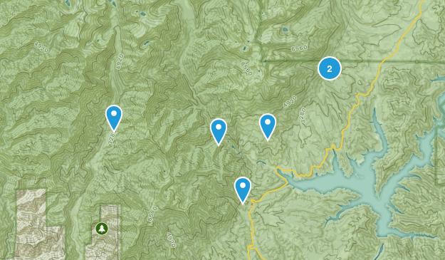 Lewiston, California Lake Map