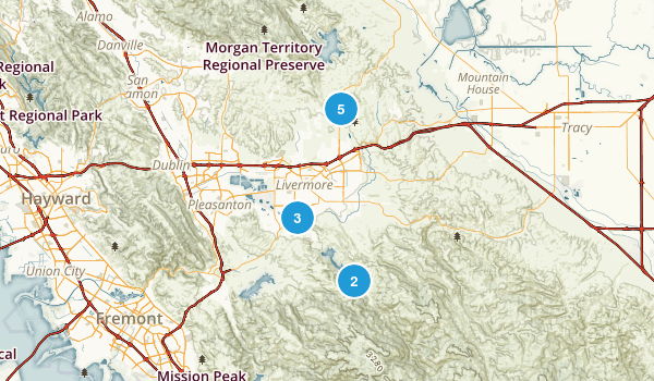 Livermore, California Dogs On Leash Map