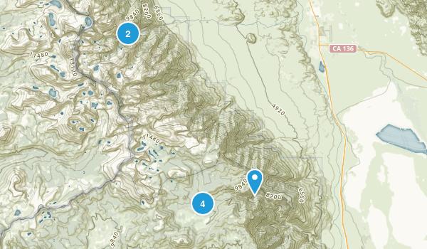 Lone Pine, California Backpacking Map