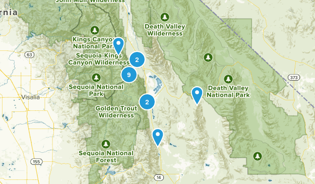 Lone Pine, California Birding Map