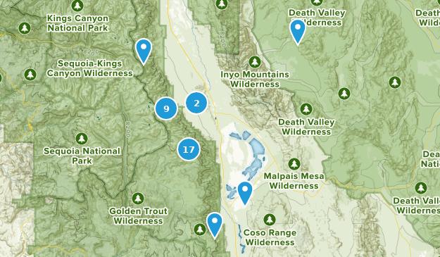Lone Pine, Kalifornien Hiking Map