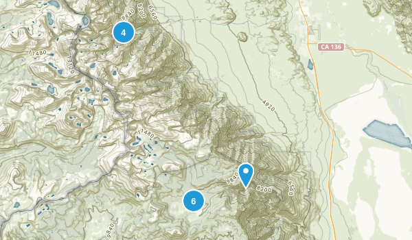 Lone Pine, California Lake Map