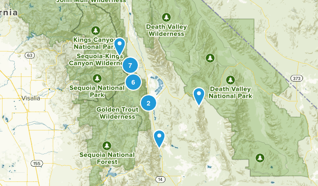 Lone Pine, California Nature Trips Map
