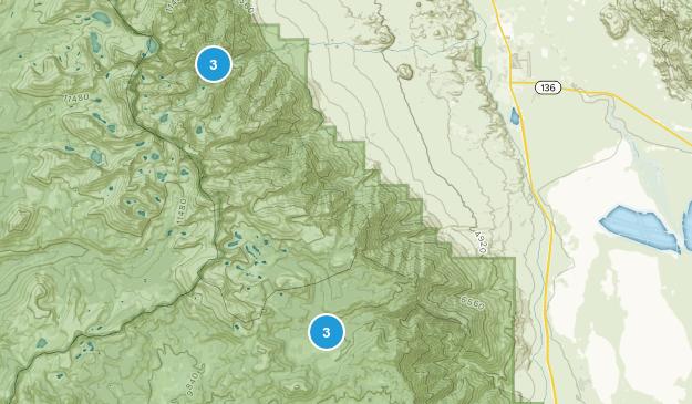 Lone Pine, California Rock Climbing Map