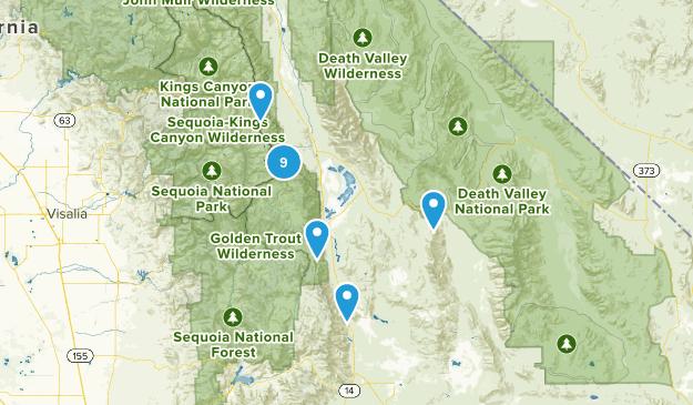 Lone Pine, California Wild Flowers Map