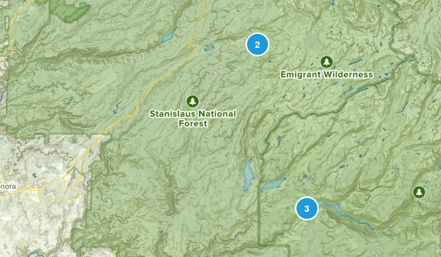 Long Barn, California Lake Map