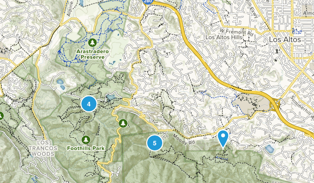 Los Altos Hills, California Birding Map
