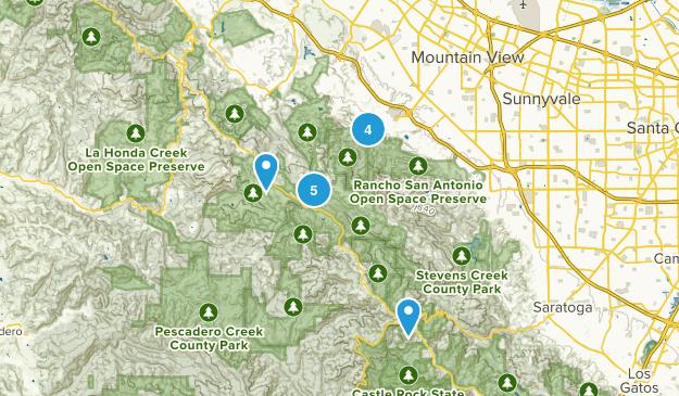 Map Of Trails Near Los Altos California Alltrails