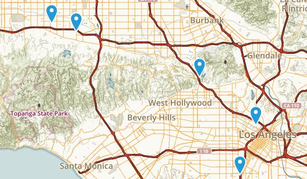 Los Angeles, California Wheelchair Friendly Map
