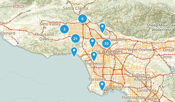 Los Angeles, California Birding Map