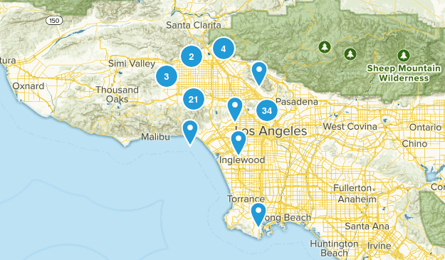 Los Angeles, California Birding Map