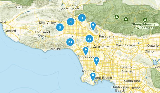 Los Angeles, Kalifornien Bird Watching Map