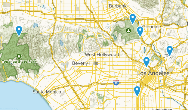 Los Angeles, California City Walk Map