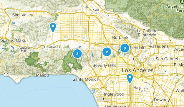 Los Angeles, California Dog Friendly Map