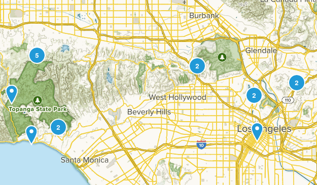 Los Angeles, California No Dogs Map