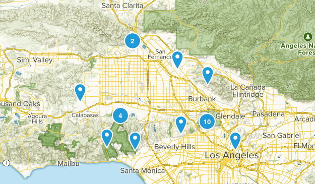 Los Angeles, California Forest Map