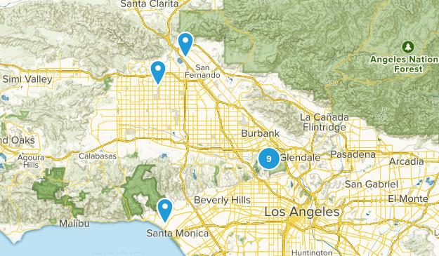 Los Angeles, California Horseback Riding Map