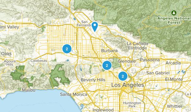 Los Angeles, California Lake Map