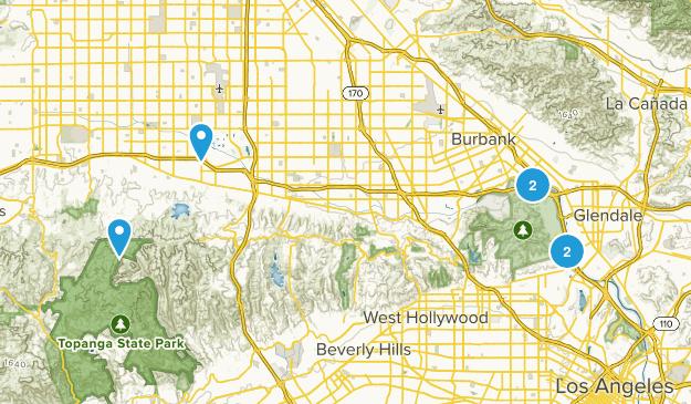 Los Angeles, California River Map