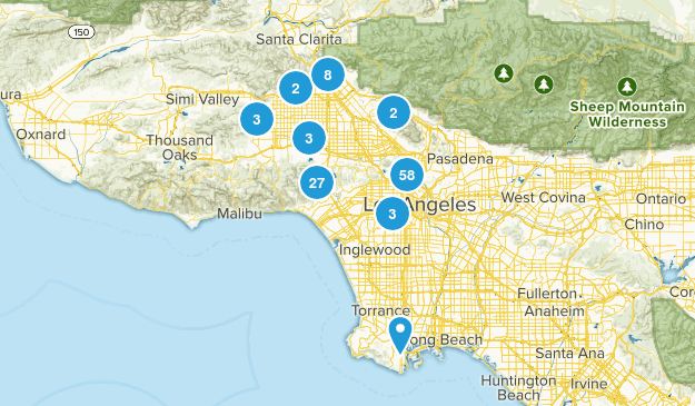 Los Angeles, California Walking Map