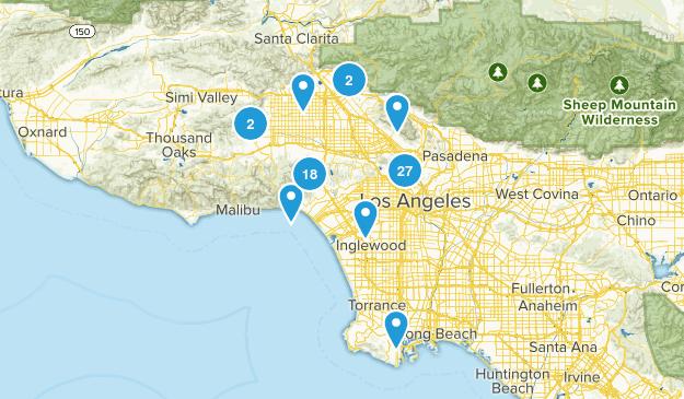 Los Angeles, California Wild Flowers Map