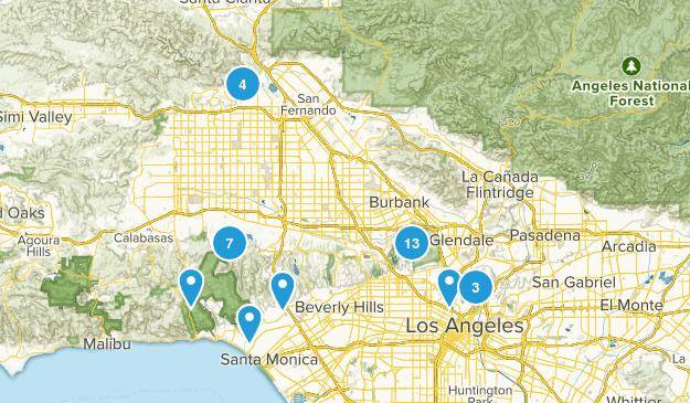 Los Angeles, California Wildlife Map