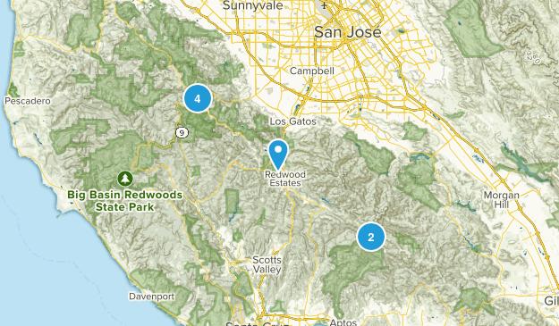 Los Gatos, California No Dogs Map