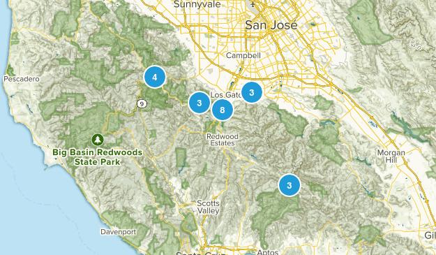 Los Gatos, California Mountain Biking Map