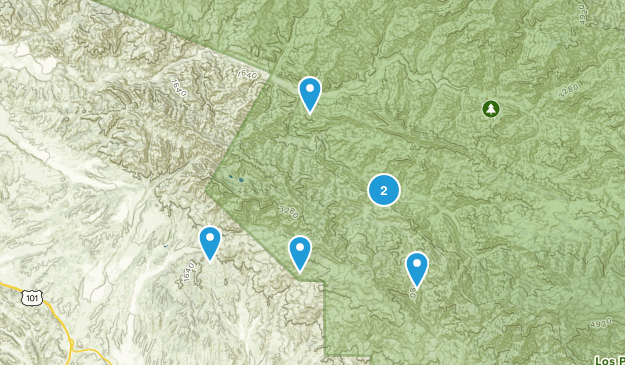 Los Olivos, California Views Map