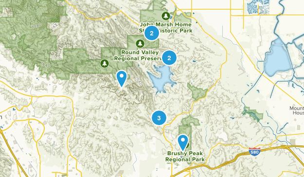 Los Vaqueros Reservoir & Watershed, California Birding Map