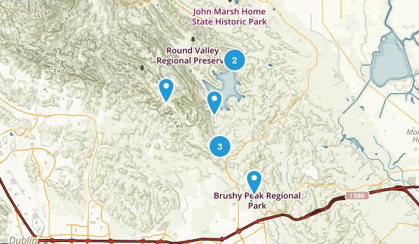 Los Vaqueros Reservoir & Watershed, California Nature Trips Map