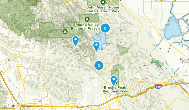 Los Vaqueros Reservoir & Watershed, California Nature Trips Map