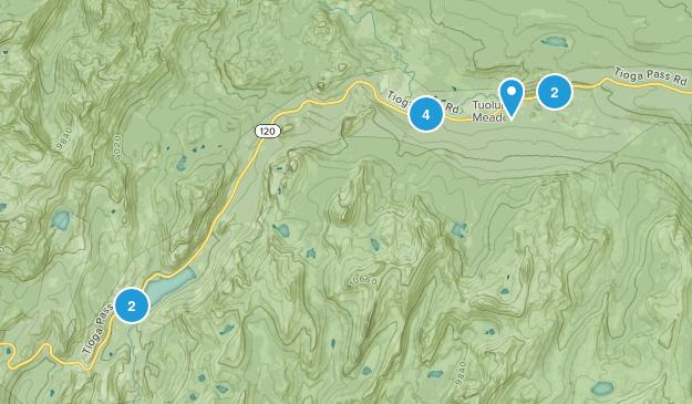 Lundy, California Hiking Map