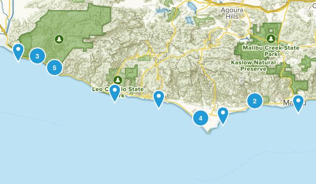 Malibu, California Beach Map