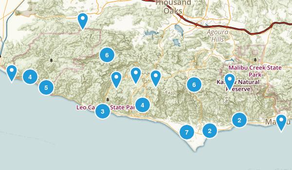 Malibu, California Birding Map