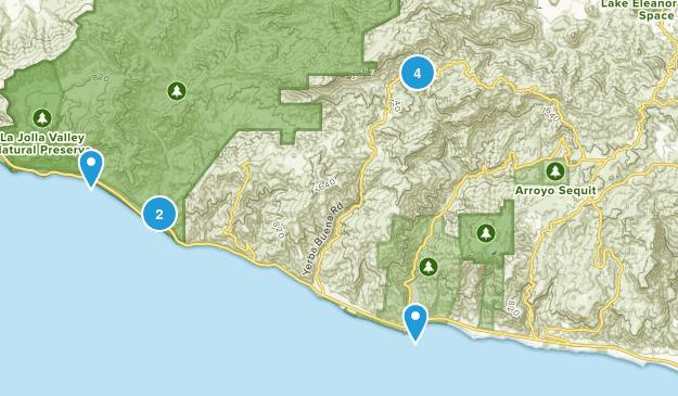 Malibu, California Camping Map