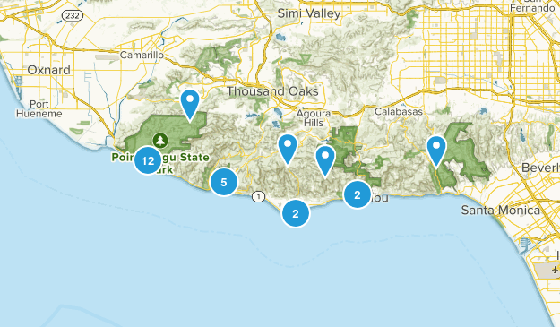 Malibu, California No Dogs Map