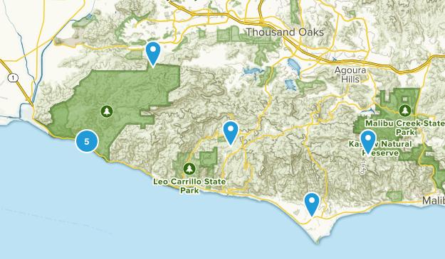 Malibu, California Horseback Riding Map