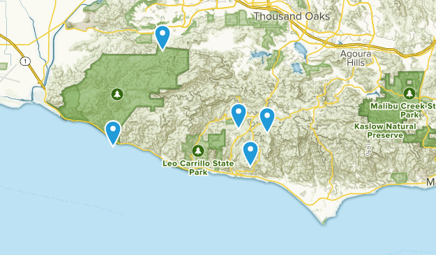 Map Of California Malibu.Map Of Trails Near Malibu California Alltrails