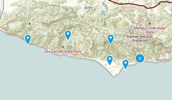 Best River Trails Near Malibu California Photos - California river map