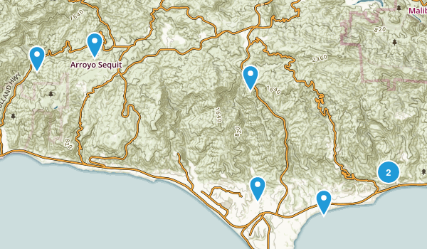 Best Waterfall Trails Near Malibu California Photos - California waterfalls map