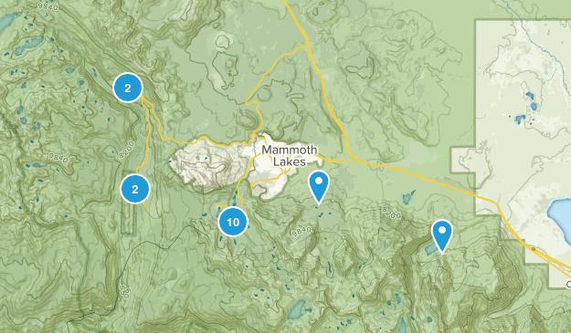 Mammoth Lakes, California Backpacking Map