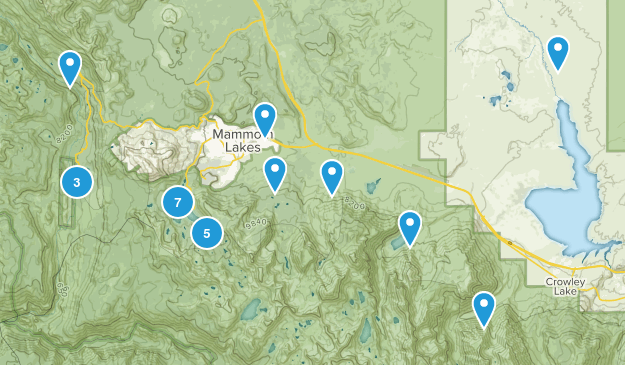 Mammoth Lakes, California Camping Map