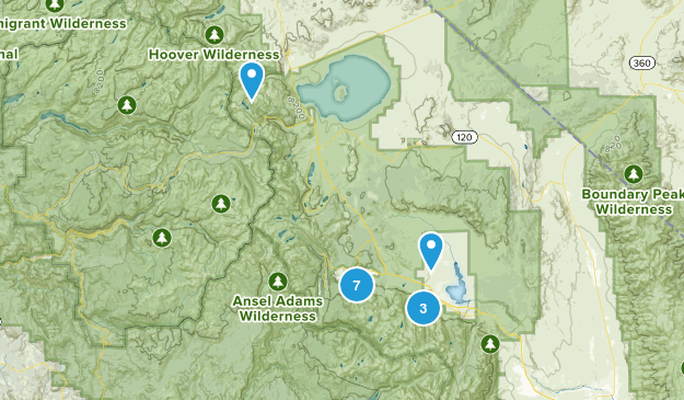 Mammoth Lakes, California Fishing Map