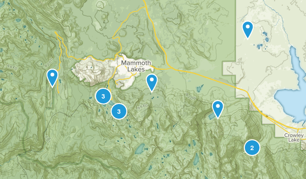 Mammoth Lakes, California Fishing Map