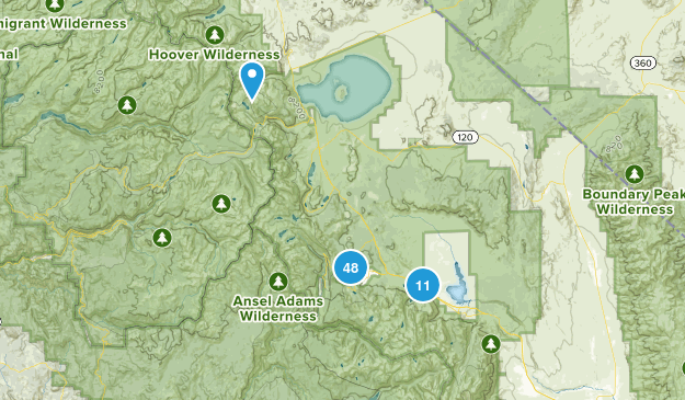 Mammoth Lakes, California Hiking Map