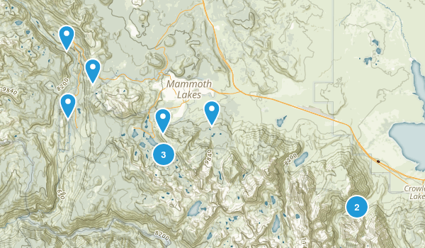 Mammoth Lakes, California Horseback Riding Map